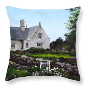 Cottage, Graiguenamanagh Throw Pillow