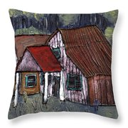 Cottage In The Woods Throw Pillow