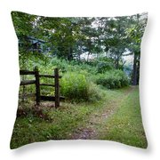 Cottage Path Throw Pillow