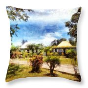 Cottages In A Landscape Throw Pillow