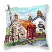 Cottages In Runswick Bay Throw Pillow