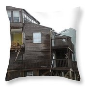 Cottages Of The Past Throw Pillow