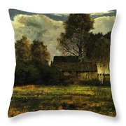 Cottages On The Dachau Marsh 1902 Throw Pillow