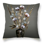 Cotton, Bamboo, And Devil's Ivy Throw Pillow