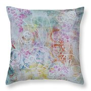 Cotton Candy And Ferris Wheels Throw Pillow