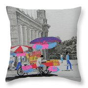Cotton Candy At The Cne Throw Pillow