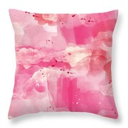 Cotton Candy Clouds- Abstract Watercolor Throw Pillow