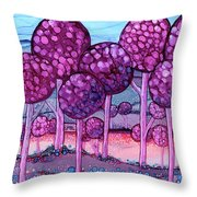 Cotton Candy Forest Throw Pillow