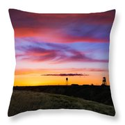 Cotton Candy Sunrise Over The Galt Throw Pillow