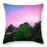 Cotton Candy Sunset Throw Pillow