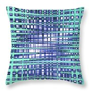 Cotton Field Abstract Throw Pillow