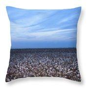 Cotton Fields At Dusk Casa Grande Arizona 2004 Throw Pillow