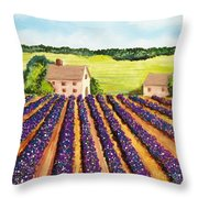 Cotton Fields Throw Pillow