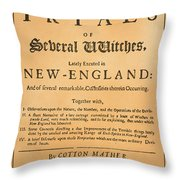 Cotton Mather, 1693 Throw Pillow