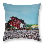 Cotton Pickin' Business Throw Pillow