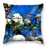Cotton Pickin Snow Throw Pillow