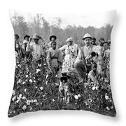 Cotton Planter & Pickers, C1908 Throw Pillow