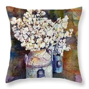 Cotton Stalks Throw Pillow