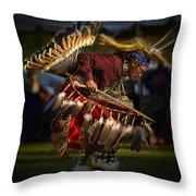Grass Dancer Throw Pillow