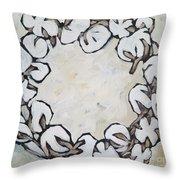 Cotton Wreath Throw Pillow