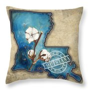 Cotton_made In La Throw Pillow