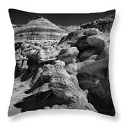 Cottonwood Creek Strange Rocks 6 Bw Throw Pillow