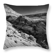 Cottonwood Creek Strange Rocks 7 Bw Throw Pillow