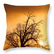 Cottonwood Sunrise - Vertical Print Throw Pillow