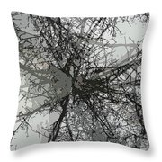 Cottonwood Tree Montage Throw Pillow