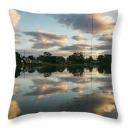 Couds At Sunrise Throw Pillow