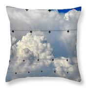 Couds With Lights Throw Pillow