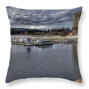 Couer D'alene Resort 3 Throw Pillow