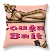 Cougar Bait Throw Pillow
