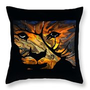 Cougar Elk   -015 Throw Pillow
