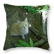 Cougar In The Woods Throw Pillow