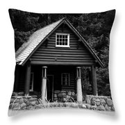 Cougar Rock Gas Station Throw Pillow