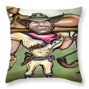 Cougar Trainer Throw Pillow by Kevin Middleton