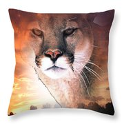 Cougar View Throw Pillow