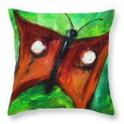 Count Dracufly Throw Pillow