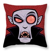 Count Dracula Throw Pillow