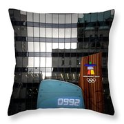 Countdown Clock Olympic Winter Games Vancouver Bc Canada 2010 Throw Pillow