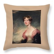 Countess Of Plymouth By Sir Thomas Lawrence Throw Pillow