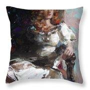 Countess Throw Pillow by Sergey Ignatenko