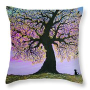Counting Crowes Throw Pillow