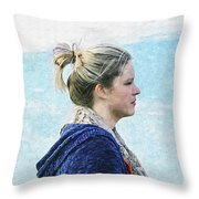 Country Angel - Paint Fx Throw Pillow