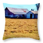 Country Barn And Shed Throw Pillow