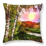 Country Birch Throw Pillow