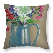 Country Bouquet Throw Pillow