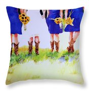 Country Bride Throw Pillow