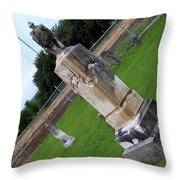 Country Cemetery Throw Pillow